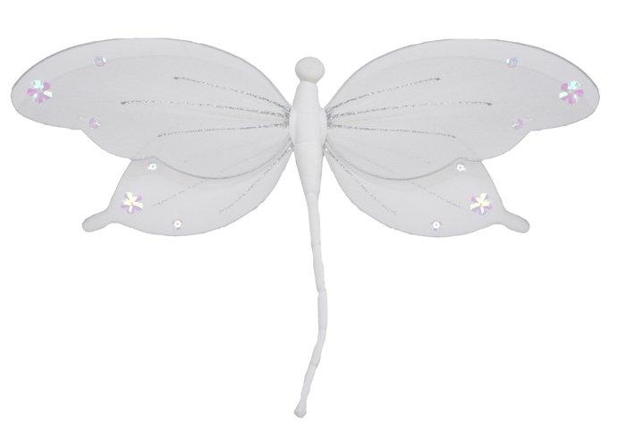 "13"""" White Jewel Dragonfly - nylon hanging ceiling wall baby nursery room wedding decor decoration d"