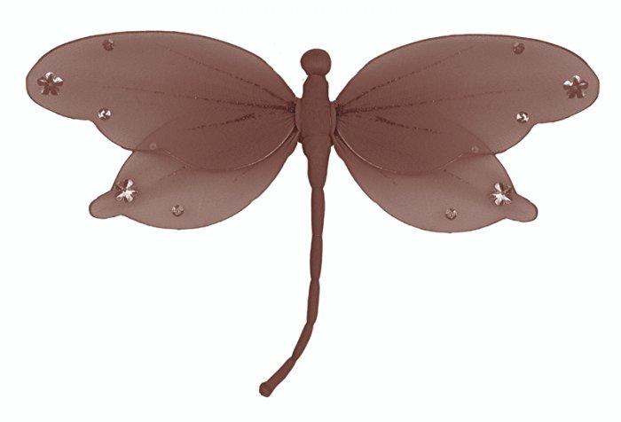 "10"""" Brown Jewel Dragonfly - nylon hanging ceiling wall baby nursery room wedding decor decoration d"
