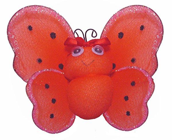 "4"""" Red Smiling Ladybug - nylon hanging ceiling wall baby nursery room wedding decor decoration deco"