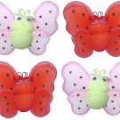 Lot Smiling Ladybugs 4 piece Set ladybug (Red & Black, Pink & Green) - nylon hanging ceiling wall ba