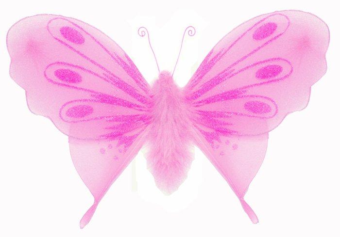 "10"""" Dark Pink (Fuschia) Marabou Feathers Butterfly - nylon hanging ceiling wall baby nursery room w"