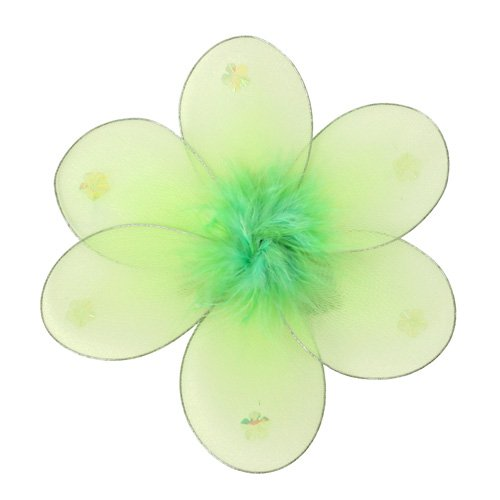 "8"""" Green Marabou Daisy Flower - nylon hanging ceiling wall baby nursery room wedding decor decorati"