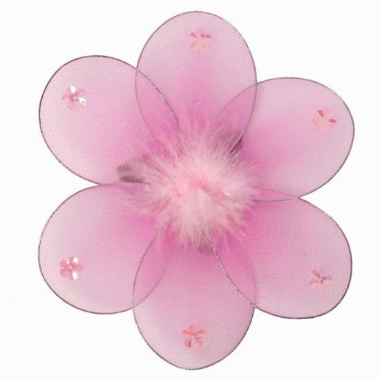 "8"""" Dark Pink (Fuschia) Marabou Daisy Flower - nylon hanging ceiling wall baby nursery room wedding"