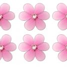 "2"""" Dark Pink (Fuschia) Mini Daisy Flower Daisies Flowers 6pc set - nylon hanging ceiling wall baby"