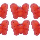 "2"""" Red Black Mini Smiling Ladybugs 6pc set - nylon hanging ceiling wall baby nursery room wedding d"