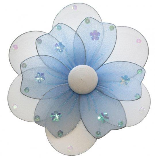 "8"""" Blue Multi Layered Multi Layered Daisy Flower - nylon hanging ceiling wall baby nursery room wed"