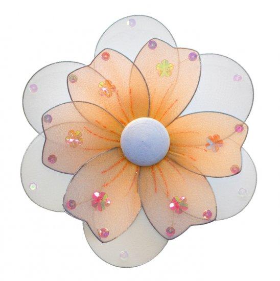 "8"""" Orange Multi Layered Daisy Flower - nylon hanging ceiling wall baby nursery room wedding decor d"