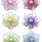 "Lot 8"""" Multi Layered Daisy Flowers 6 piece Set daisies flower (Pink, Purple, Yellow, Blue, Green an"
