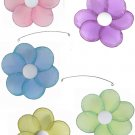 "24"""" Pink Purple Yellow Blue Green Single Layer Flower Mobile - nylon hanging ceiling wall baby nurs"