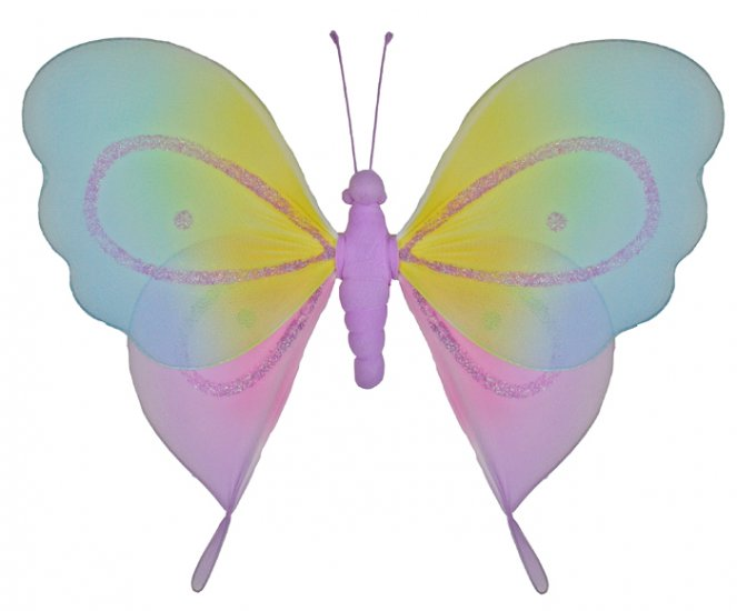 "5"""" Purple Rainbow Butterfly - nylon hanging ceiling wall baby nursery room wedding decor decoration"