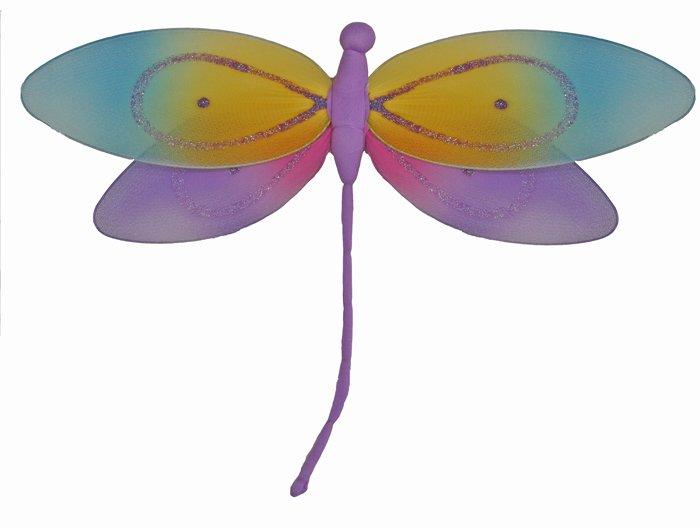 "10"""" Purple Rainbow Dragonfly - nylon hanging ceiling wall baby nursery room wedding decor decoratio"