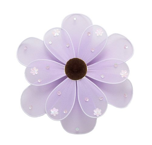 "6"""" Purple Sequined Daisy Flower - nylon hanging ceiling wall baby nursery room wedding decor decora"