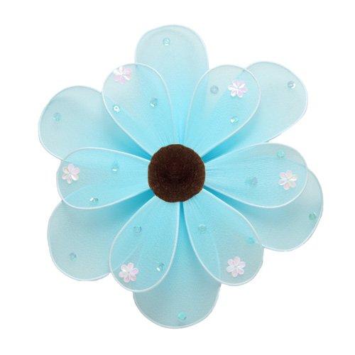 "10"""" Blue Sequined Daisy Flower - nylon hanging ceiling wall baby nursery room wedding decor decorat"