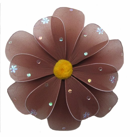 "sale 6"""" Brown Sequined Daisy Flower - nylon hanging ceiling wall baby nursery room wedding decor de"