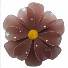 "sale 10"""" Brown Sequined Daisy Flower - nylon hanging ceiling wall baby nursery room wedding decor d"
