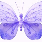 "5"""" Purple Shimmer Butterfly - nylon hanging ceiling wall baby nursery room wedding decor decoration"