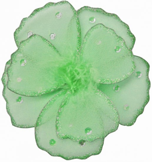 "6"""" Green Shimmer Daisy Flower - nylon hanging ceiling wall baby nursery room wedding decor decorati"