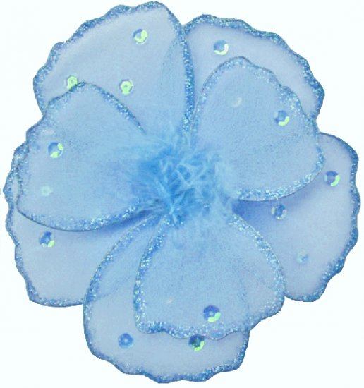 "6"""" Blue Shimmer Shimmer Daisy Flower nylon hanging ceiling wall baby nursery room wedding décor"