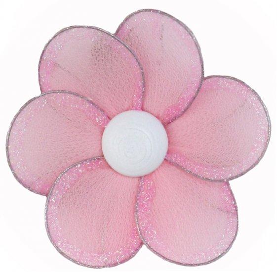 "8"""" Pink Single Layer Daisy Flower - nylon hanging ceiling wall baby nursery room wedding decor deco"