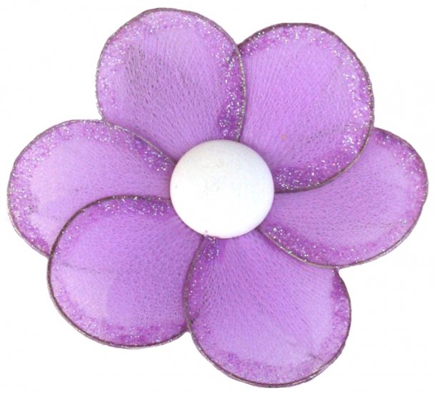 "8"""" Purple Single Layer Daisy Flower - nylon hanging ceiling wall baby nursery room wedding decor de"