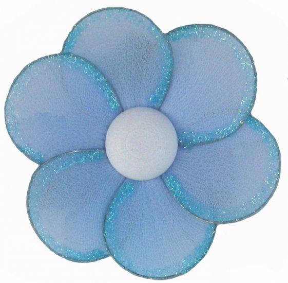 "8"""" Blue Single Layer Single Layer Daisy Flower nylon hanging ceiling wall baby nursery room wedding"