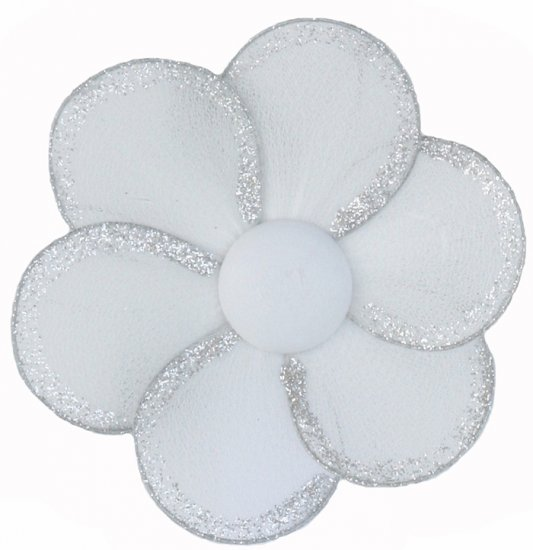 "8"""" White Single Layer Daisy Flower - nylon hanging ceiling wall baby nursery room wedding decor dec"