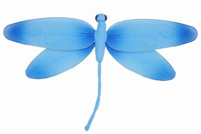 "10"""" Blue Swirl Dragonfly - nylon hanging ceiling wall baby nursery room wedding decor decoration de"