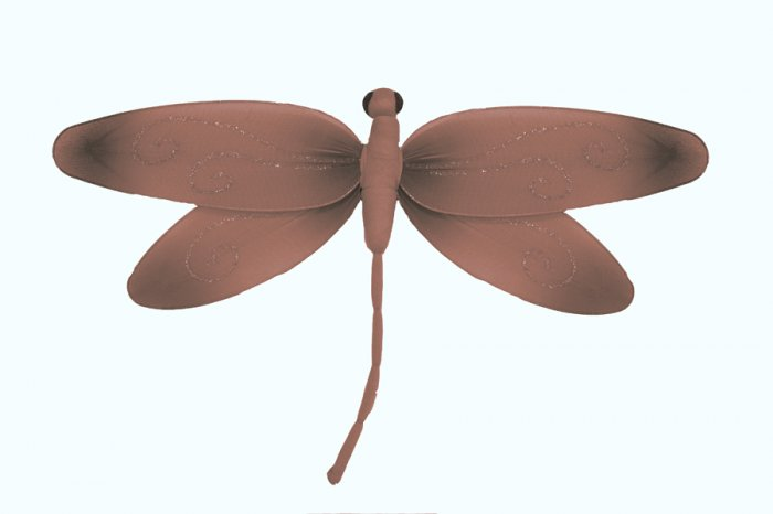 "10"""" Brown Pink Swirl Dragonfly - nylon hanging ceiling wall baby nursery room wedding decor decorat"