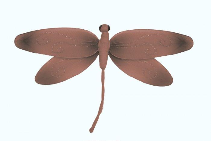 "13"""" Brown Pink Swirl Dragonfly - nylon hanging ceiling wall baby nursery room wedding decor decorat"