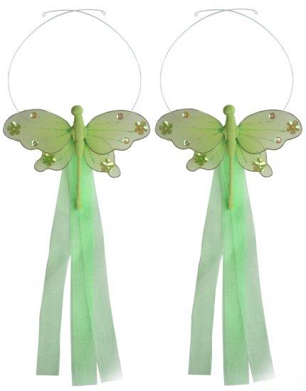 Green Jewel Dragonfly Curtain Tieback Pair / Set - holder tiebacks tie backs girls nursery room deco