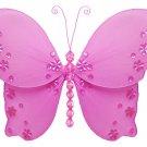 "18"""" Dark Pink (Fuschia) Twinkle Bead Sequin Butterfly - nylon hanging ceiling wall baby nursery roo"