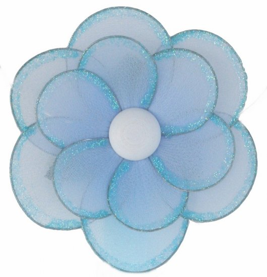 "8"""" Blue Glitter Layered Glitter Layered Daisy Flower - nylon hanging ceiling wall nursery bedroom d"