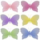 "10"""" Lot Jewel Butterflies 6 piece Set butterfly  - nylon hanging ceiling wall nursery bedroom decor"