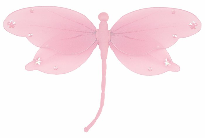 """10"""""""" Pink Jewel Dragonfly - nylon hanging ceiling wall nursery bedroom decor decoration decorations"""
