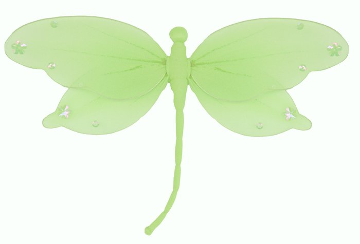 "5"""" Green Jewel Dragonfly - nylon hanging ceiling wall nursery bedroom decor decoration decorations"