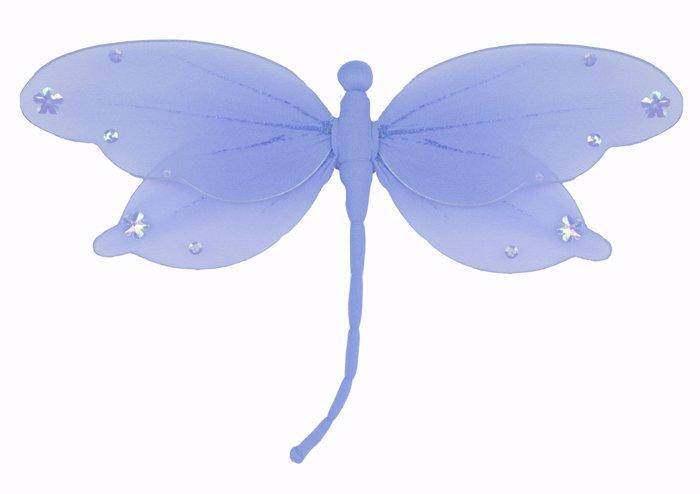 "5"""" Blue Jewel Dragonfly - nylon hanging ceiling wall nursery bedroom decor decoration decorations"