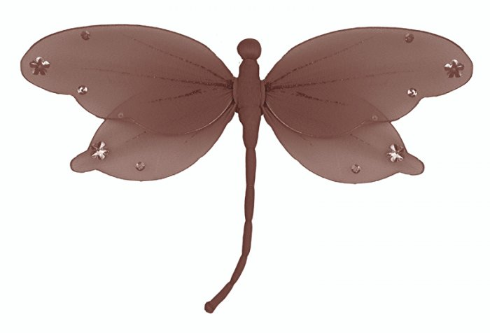 "5"""" Brown Jewel Dragonfly - nylon hanging ceiling wall nursery bedroom decor decoration decorations"