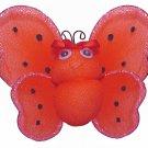 "4"""" Red Smiling Ladybug - nylon hanging ceiling wall nursery bedroom decor decoration decorations"