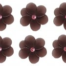 "2"""" Brown Pink Mini Daisy Flower Daisies Flowers 6pc set - nylon hanging ceiling wall nursery bedroo"