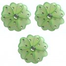 "4"""" Green Mini Wire Daisy Flower Daisies Flowers 3pc set - nylon hanging ceiling wall nursery bedroo"
