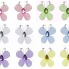 "1"""" Pink Purple Yellow Blue Green White Mini Glitter Butterfly Butterflies 12pc set - nylon nursery"