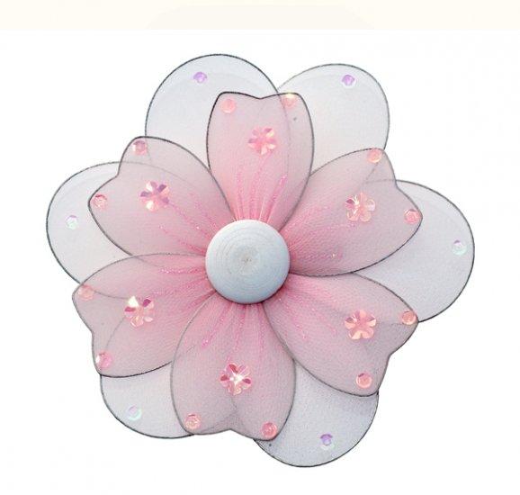 "8"""" Pink Multi Layered Daisy Flower - nylon hanging ceiling wall nursery bedroom decor decoration de"