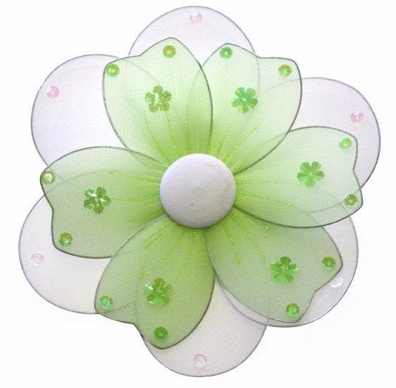 "8"""" Green Multi Layered Daisy Flower - nylon hanging ceiling wall nursery bedroom decor decoration d"