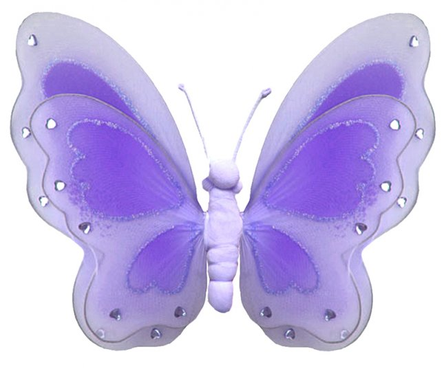 """13"""""""" Purple Painted Layered Butterfly - nylon hanging ceiling wall nursery bedroom decor decoration"""