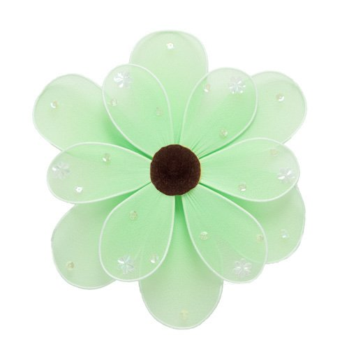 "10"""" Green Sequined Daisy Flower - nylon hanging ceiling wall nursery bedroom decor decoration decor"