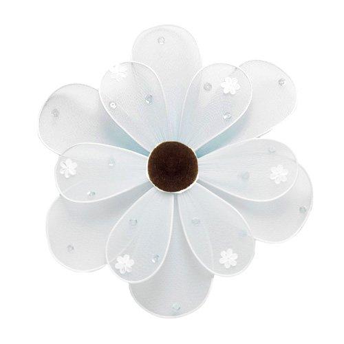 "6"""" White Sequined Daisy Flower - nylon hanging ceiling wall nursery bedroom decor decoration decora"