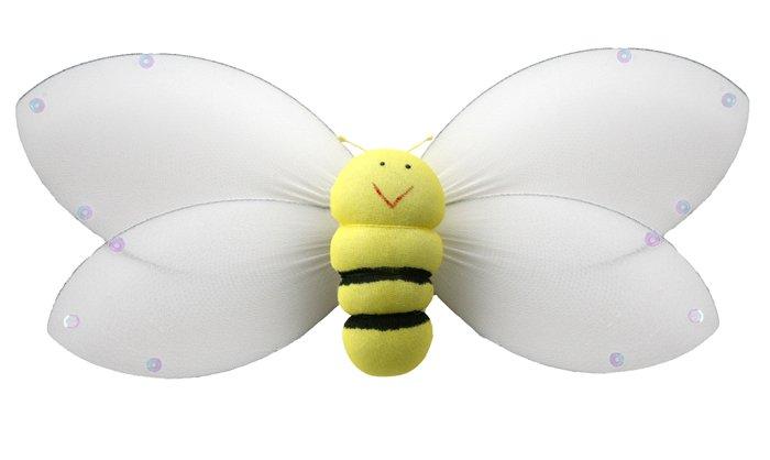 "5"""" Yellow Smiling Bumble Bee - nylon hanging ceiling wall nursery bedroom decor decoration decorati"