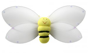 "13"""" Yellow Smiling Bumble Bee - nylon hanging ceiling wall nursery bedroom decor decoration decorat"