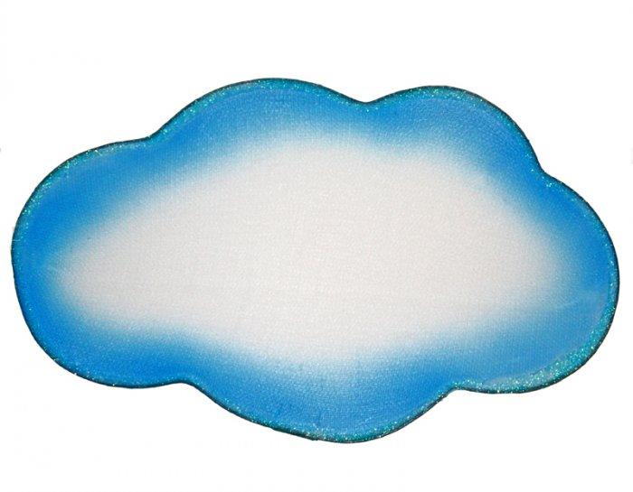 "13"""" Blue White Round Cloud - nylon hanging ceiling wall nursery bedroom decor decoration decoration"