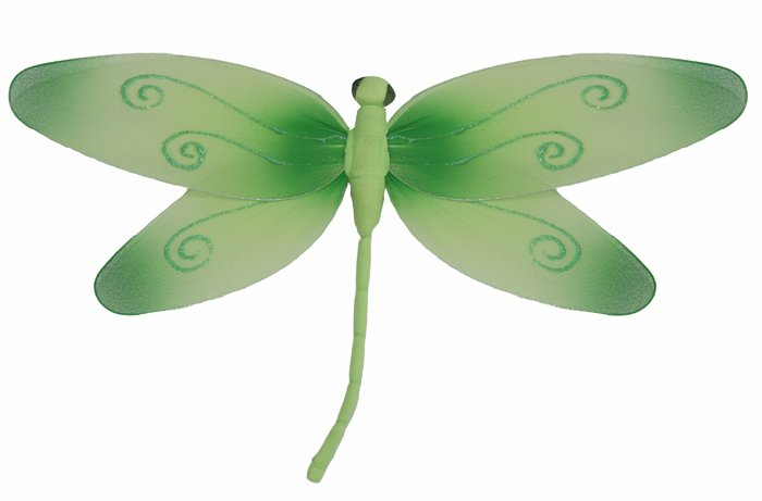 "10"""" Green Swirl Dragonfly - nylon hanging ceiling wall nursery bedroom decor decoration decorations"